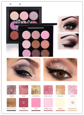 glitter eye shadow plate
