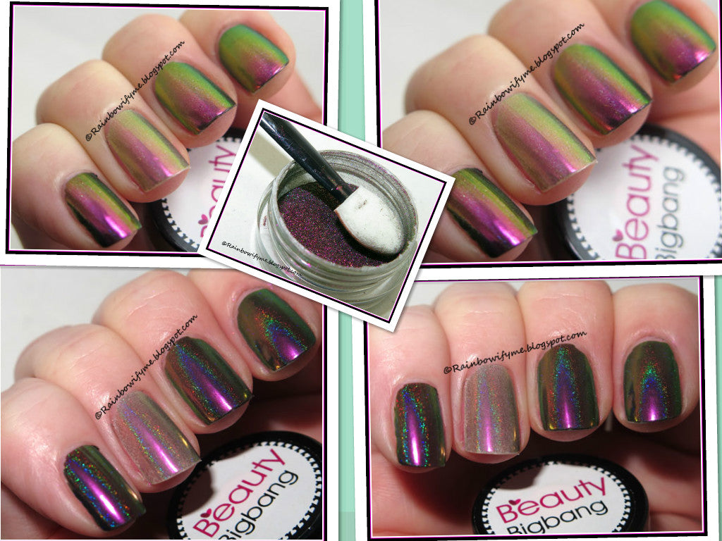 Holographic Peacock Chameleon Nail powder