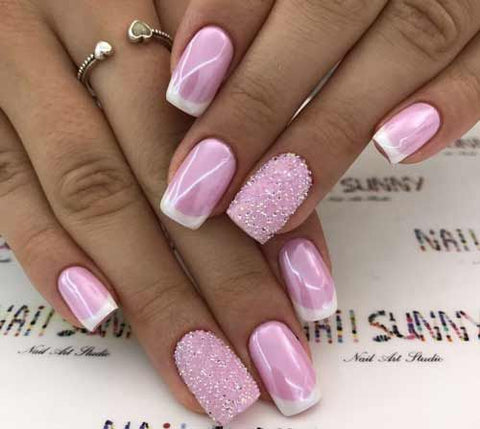 pink nail art design - 30+ Cute Pink Nail Art Designs 2018 BeautyBigBang