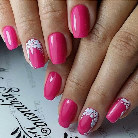 pink nail art designs - 30+ Cute Pink Nail Art Designs 2018 BeautyBigBang