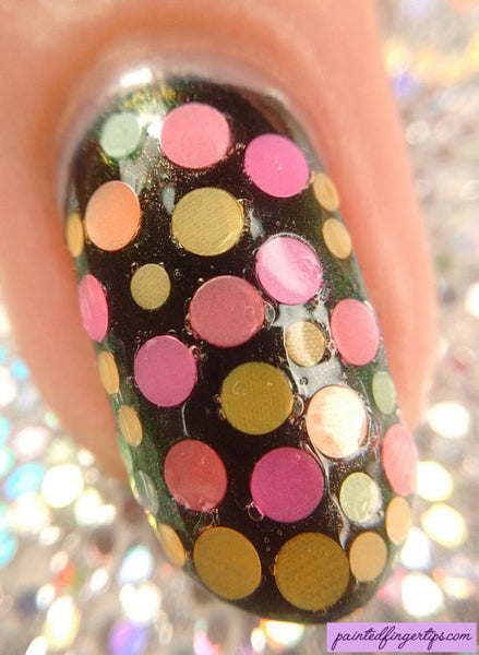 Mixed Round Colorful Luminous Neon Glitter