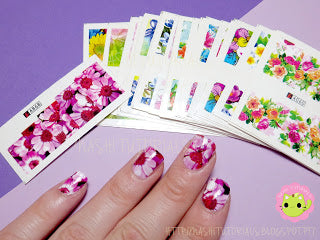 Flower Water Decals
