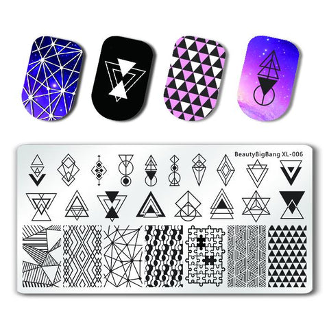 Negative Space Rectangle Nail Stamping Plate