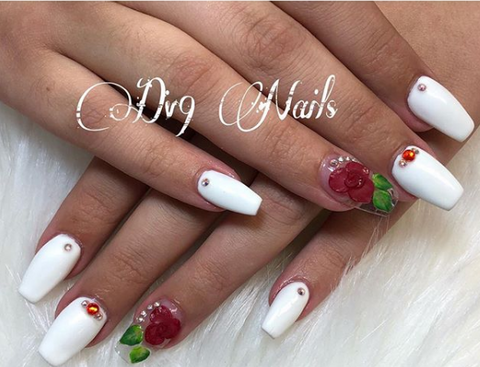 White Matte nail Designs - 2018 50+ Hottest White Matte Nail Designs BeautyBigBang