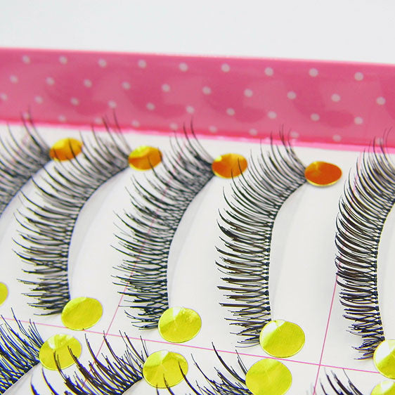 10 Pairs Seamless Volume False Eyelashes Eye Lashes Makeup