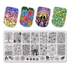 4Pcs/Set Flower Stamping Plate With Polish & Stamper For Nail Stamping Starter Kit