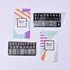2Pcs Geometric Nail Art Printing Steel Plate Combination Set