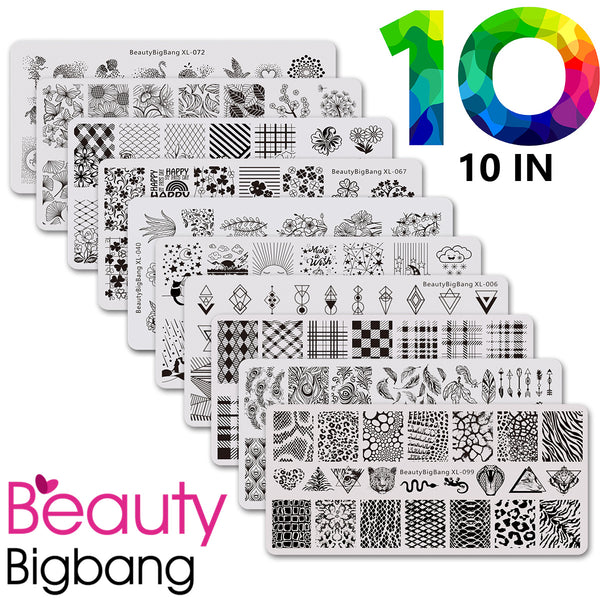 10 in 1 Flower + Lace + Texture + more popular plate bundle