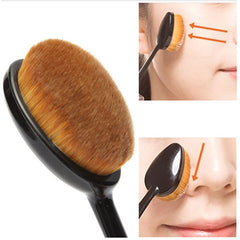 Oval Makeup Brush Toothbrush Shaped Cosmetic Brush