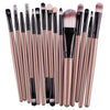 15Pcs Makeup Brushes Lip Blush Eyeshdow Brush Powder Cosmetic Brush Set