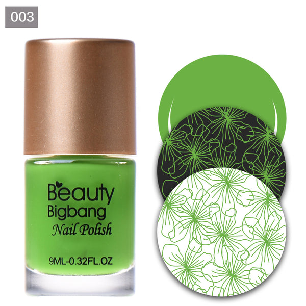 9ML Green Nail Stamping Polish Nail Art Stamping Plate Printing Varnish