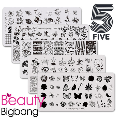 Live creatures mix 5 in 1 plates set [butterfly, unicorn]