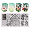 Christmas Jingling Bell Theme Rectangle Nail Stamping Plate Star Glove Design Nail Art Tool BBBXL-034
