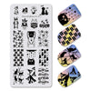 6Pcs Animals Butterfly Lace Floral Theme Nail Stamping Plate For Manicure