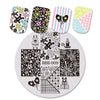 5Pcs Christmas Nail Art Stamping Plates & 5Pcs Christmas Nail Decals Laser Stamping Plate Holder Gift Pack