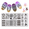Christmas Tree Theme Rectangle Nail Stamping Plate Snowflake Penguin Design Nail Art Tool BBBXL-033