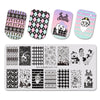 Christmas Fireworks Dog Theme Rectangle Nail Stamping Plate Deer Design Nail Art Tool BBBXL-032