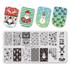 Xmas Snowman Theme Rectangle Nail Stamping Plate Christmas Deer Design Nail Art Tool BBBXL-030