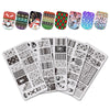 5Pcs Snowman Theme Rectangle Nail Stamping Gingerbread Mistletoe Christmas Wreath Design Nail Art Tool BBBXL-030/031/032/033/034