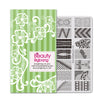 Stripe Flower Theme Rectangle Nail Stamping Plate Love Net Design Nail Art Tool BBBXL-036