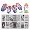 Lovebirds Flower Theme Rectangle Nail Stamping Plate Bownot Design Nail Art Tool BBBXL-037