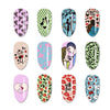 Sweethearts Love Theme Rectangle Nail Stamping Plate Triangle Letter Lip Design Nail Art Tool BBBXL-046