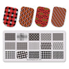 Streak Stripe Theme Rectangle Nail Stamping Plate Triangle Polygon Design Nail Art Tool BBBXL-045