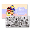 Gladiator Music Theme Rectangle Nail Stamping Plate Matryoshka Design Nail Art Tool BBBXL-049