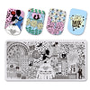 Wedding Love Theme Rectangle Nail Stamping Plate Rose Castle Design Nail Art Tool BBBXL-048