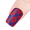 Regular Stripe Theme Rectangle Nail Stamping Plate Cloth Design Nail Art Tool BBBXL-056