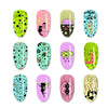 Planet Universe Theme Rectangle Nail Stamping Plate Moon Design Nail Art Tool BBBXL-054