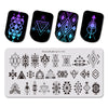 Diamond Stripe Theme Rectangle Nail Stamping Plate Triangle Design Nail Art Tool BBBXL-055