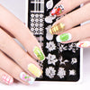 Plaid Theme Rectangle Nail Art Stamping Plate Geometry Design BBBXL-062