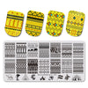 Egypt Cartoon Theme Rectangle Geometric Design Nail Stamping Plate BBBXL-060