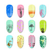 Raindrop Series Rectangle Nail Stamping Plate Umbrella Design BBBXL-059