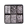 Retro Marble Series Square Nail Art Stamping Plate For Manicure BBBS-022