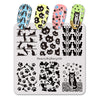 Animal Theme Cat Design Square Nail Art Stamping Plate For Manicure BBBS-026