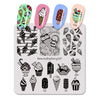 Ice Cream Pattern Square Nail Art Stamping Plate For Summer BBBS-027