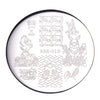 Animals Theme Rabbit Design Circle Nail Art Stamping Plate For Easter BBB-018