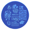 Heart Flower Pattern Circle Nail Art Stamping Plate For Mother's Day BBB-019