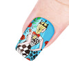 Beauty Girl Theme Flower Design Circle Nail Art Stamping Plate BBB-021