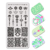 Arrow Pattern Vine Series Rectangle Nail Art Stamping Plate BBBXL-076