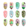 Birds Flower Pattern Rectangle Nail Art Stamping Plate BBBXL-077