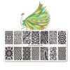 Geometry Theme Rectangle Nail Art Stamping Plate BBBXL-080