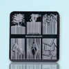 Bar Code Pattern Square Nail Art Stamping Plate For Manicure BBBS-033