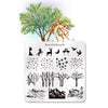 Nature Landscape Trees Theme Square Nail Art Stamping Plate BBBS-031