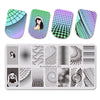 Geometry Rotating Stripe Nail Stamping Plate BBBXL-086