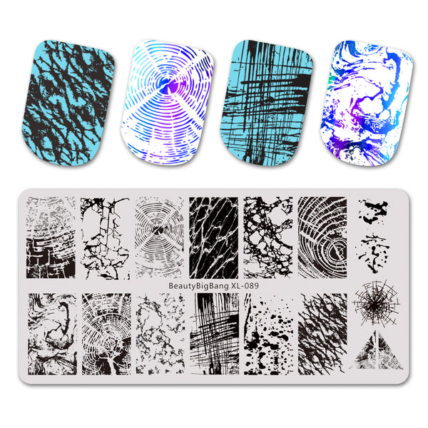 Stainless Steel Nail Stamping Plates Marble Nail Art BBBXL-089