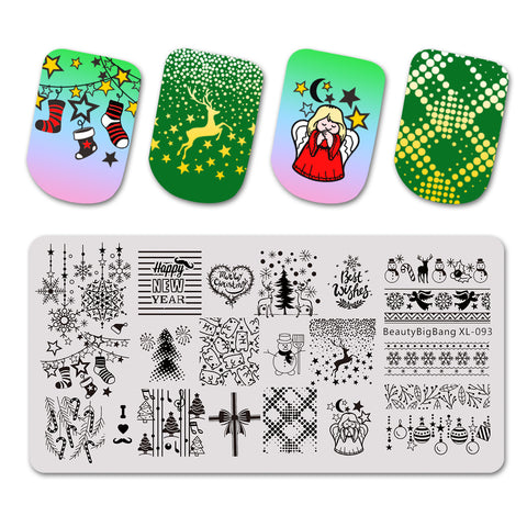 Christmas Festival Nail Art Stamping Plates BBBXL-093