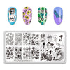 Summer Fruit Beautiful Girl Animals Nail Art Stamping Template Tropical Punch Pattern Rectangle Image Plate Stamping BeautyBigBang BBBXL-001
